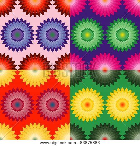 Floral Set Of Patterns