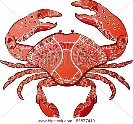 Decorative Isolated Crab