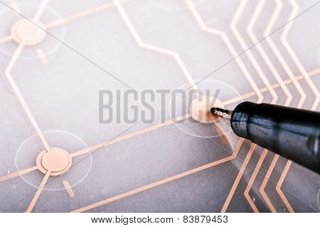 Printed Circuit From Keyboard