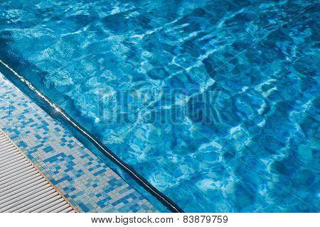 Blue Swimming Pool Rippled Water Detail