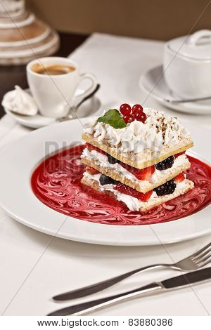 Appetizing French Millefeuille Dessert