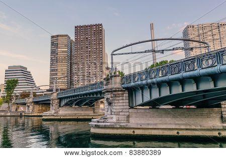 Modern Bridge River Seine