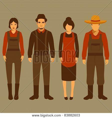 vector cartoon farmer character