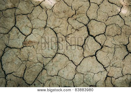 Crack Dry Clay Sold Background