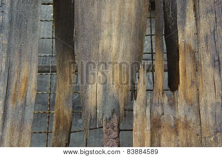 Old Broken Wood Background