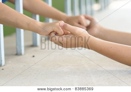 Two Boy Holding Hand