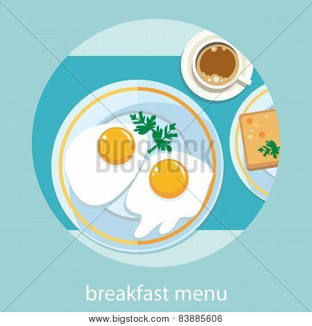 Morning breakfast menu