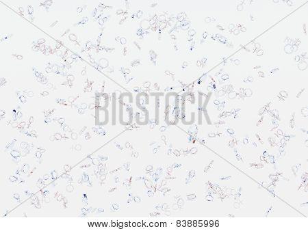 Background of the gender symbols