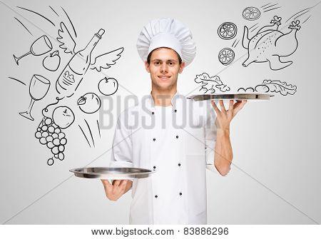 Serving Food.