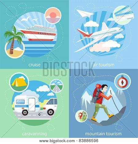 Mountain, cruise, air tourism