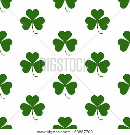 Seamless Pattern With Saint Patricks Day Shamrock Symbols