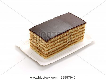 Prince Regent Cake, Thin Layers Of Biscuit With Chocolate