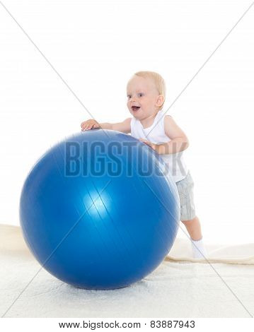 Happy Baby With Fitness Ball.