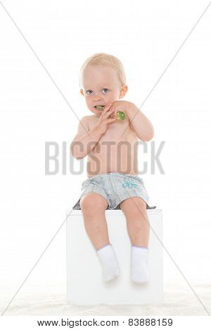 Baby Boy With Toothbrush.