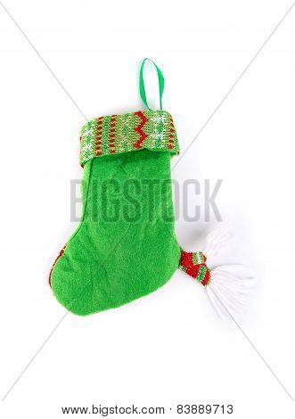 Decorative christmas green sock