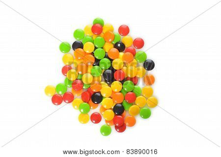 pile assorted hard candy