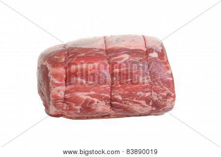 side view prime rib roast