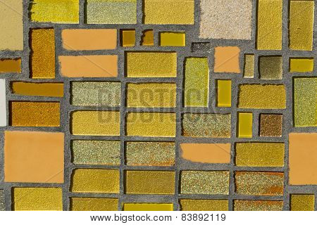 Close up of Glossy mosaic. Abstract background.