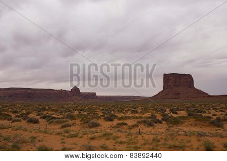 Scenic Red Rocks in Monument Valley