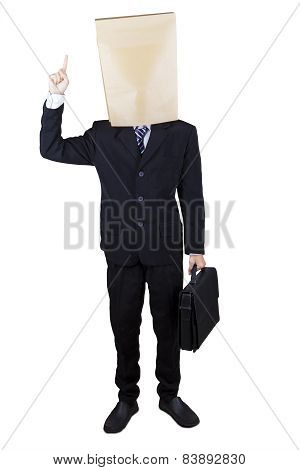 Manager With Cardboard Head Get Idea