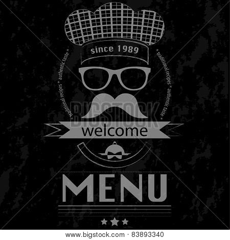 Menu Lunch Hipster - Chalkboard Poster