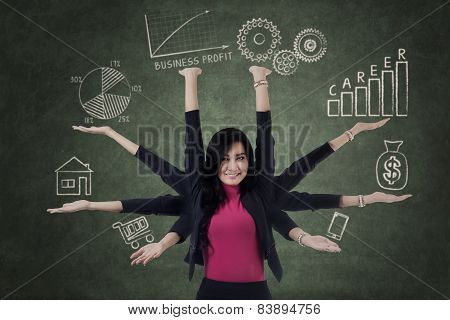 Woman Holds Priority Things
