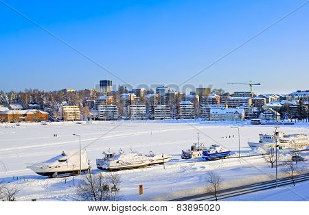 Lappeenranta. Finland. Boats on Saima Lake