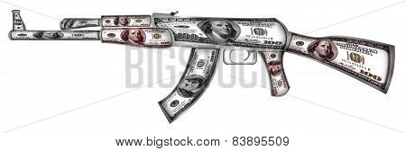 Ak-74 Made From Dollars