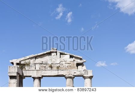 Part of a temple at the Roman Agora.