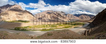 View From Zanskar Valley - Zangla Village - Ladakh