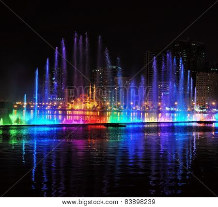 Singing fountains in Sharjah, UAE