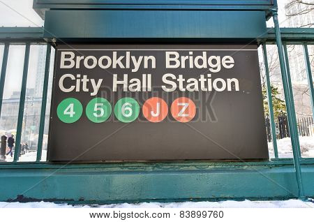 Brooklyn Bridge, City Hall Station - New York Subway