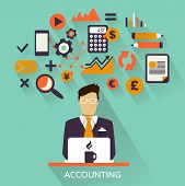 picture of accounting  - Flat design  - JPG
