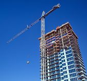 picture of high-rise  - Construction  of new high - JPG