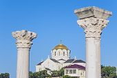 foto of sevastopol  - The Vladimir cathedral in Sevastopol on territory of Chersonesos - JPG