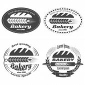 picture of grayscale  - Set of vector bakery labels - JPG
