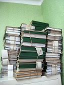 pic of piles  - the image of pile of archive papers - JPG
