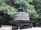 stock photo of wine-press  - Ancient wine press - JPG