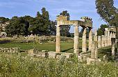 stock photo of artemis  - Temple of Artemis of Vravrona at Attica - JPG