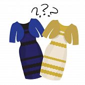 image of debate  - Popular puzzle what color of dress white and gold or black and blue - JPG
