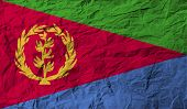pic of eritrea  - Flag of Eritrea with old texture - JPG