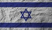 picture of israeli flag  - Flag of Israe with old texture - JPG