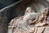 stock photo of buddha  - sichuan, China - August 19,2014 10:12 (+ 8) This is in China