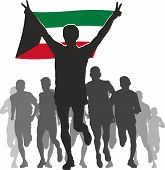 picture of kuwait  - Illustration silhouettes of athletes - JPG