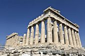 stock photo of akropolis  - Parthenon temple at the Acropolis of Athens in Greece  - JPG