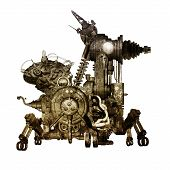picture of scrap-iron  - Scrap heap in the form of an animal - JPG