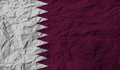 picture of qatar  - Flag of Qatar with old texture - JPG