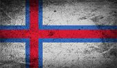 picture of faro  - Flag of Faroe Islands with old texture - JPG