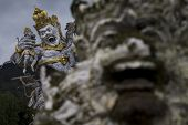 picture of monkeys  - This statue showed a moment when monkeys uprised againts the Monkey King - JPG