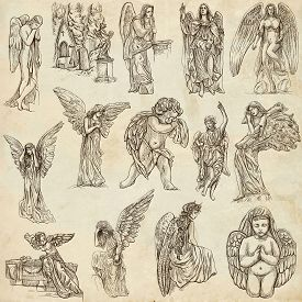 stock photo of zoroastrianism  - ANGELS  - JPG